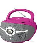 Портативная аудиосистема BBK BX195U (серый/розовый)