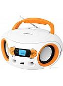 Портативная аудиосистема BBK BS15BT (белый/оранжевый)